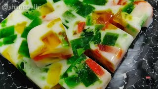 China grass pudding | Easy & tasty | agar agar jelly | broken glass jelly pudding | Agar agar halwa
