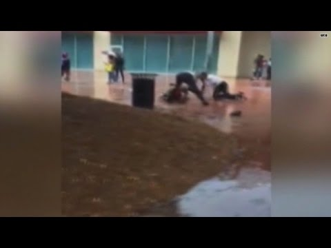 Caught on video: Mall cops brutally beat teen boy