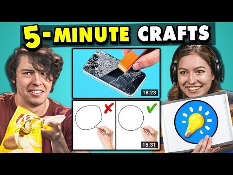 Xxx Mp4 Adults React To And Try 5 Minute Crafts Do They Work 3gp Sex