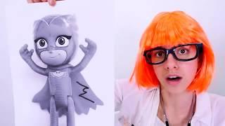 PJ Masks oyuncakları – Baykuş Kız Aykızı kolunu kırıyor. #Kızoyuncakları ve #doktoroyunu!