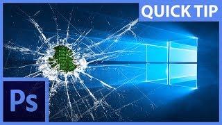 Efekt rozbitého skla nebo obrazovky počítače – Photoshop CZ tutorial
