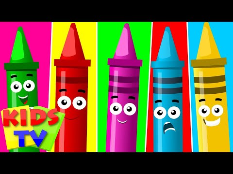 five litle crayons | crayons song | original children songs by Kids tv