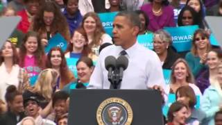 The President On The Campaign Trail. Obama Prescribes OBAMACARE for ROMNESIA