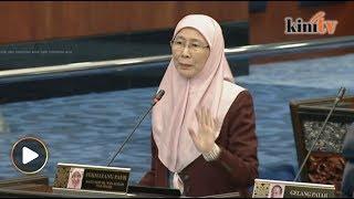 Wan Azizah tanya soalan 1MDB, ditolak