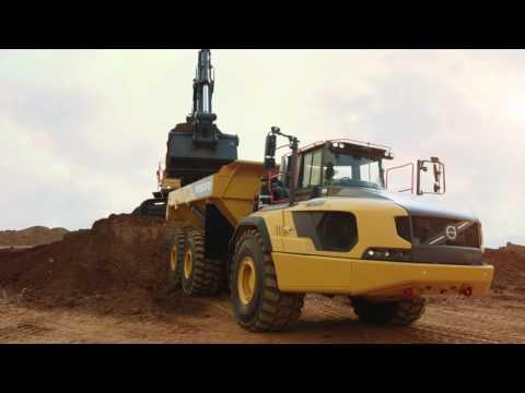 Volvo A60H hauler and EC950E excavator: The perfect match for maximum productivity.