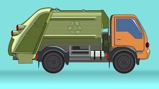 Garbage truck | Formation And Uses | Videos For Kids | Heavy Vehicles For Children