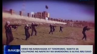 Saksi: Video ng karahasan at terorismo, nakita sa cellphone ng napatay na bandidong si Abu Saad