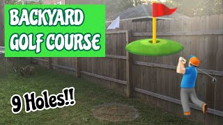 9 HOLE BACKYARD MINI GOLF COURSE (DIY HOW TO MAKE YOUR OWN!)