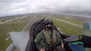 This is what it looks like to experience a high-performance take off in a Eurofighter Typhoon