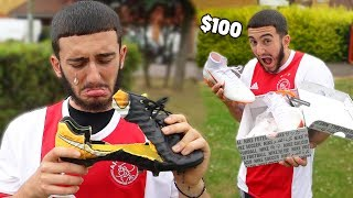 Destroying My Friend's $100 Football Boots And Surprising Him With New Ones
