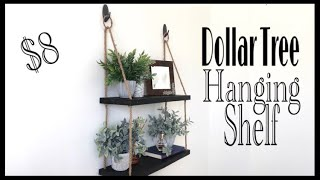Dollar Tree DIY Hanging Rope Shelf