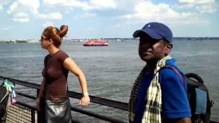 Hasan Masood visits  Statue of Liberty