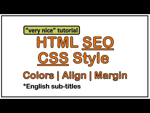HTML SEO and Stylesheets tutorial