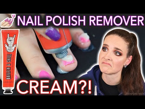 Nail Polish Remover CREAM not toothpaste
