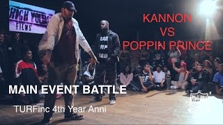 TURFinc | Kannon vs Poppin Prince ( bad trip crew) Paris France | 4YEAR Anniversary Dance Battle