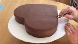 Heart Shaped Cake Part 1: Cutting, Covering, and Crimping