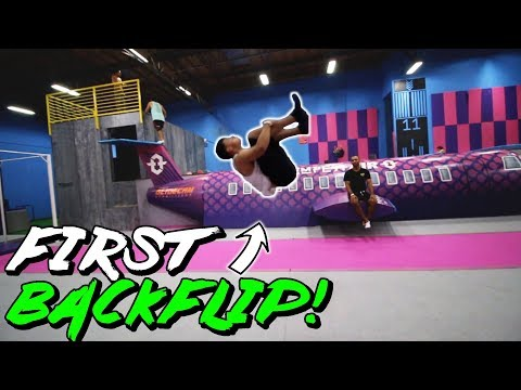FIRST TIME EVER DOING A BACKFLIP