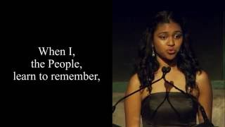 Poetry In Voice 2016 winner Marie Foolchand recites at Griffin Poetry Prize awards ceremony