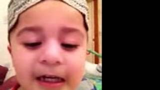 3 year old baby reciting the