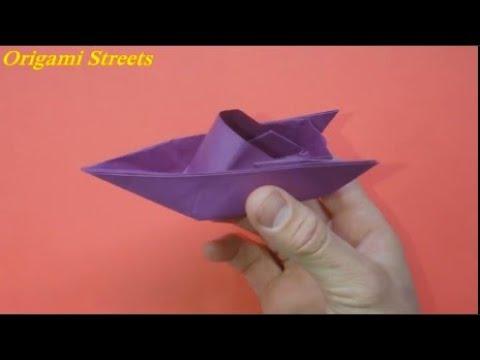 лодка из листка бумаги