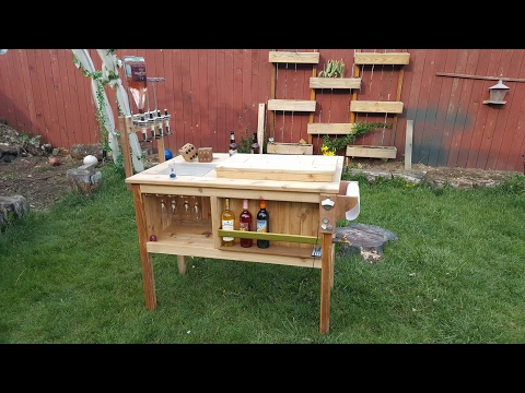 DIY outdor mini bar