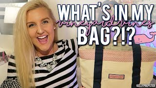 """PREPPY"" WHATS IN MY BAG?!?! 2017 (SUMMER VINEYARD VINES TOTE) 