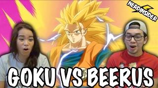 DRAGON BALL SUPER English Dub Episode 5 Goku VS Beerus REACTION & REVIEW