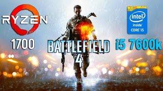 Ryzen 7 1700 vs i5 7600k in Battlefield 4 (GTX 1070)