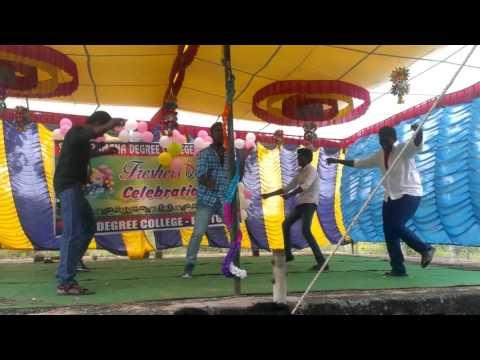 Thara local and silata pilata mixed mass dance by Ajish in SRDC puttur
