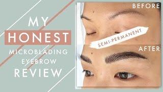 My HONEST Microblading Eyebrow Review   ilikeweylie