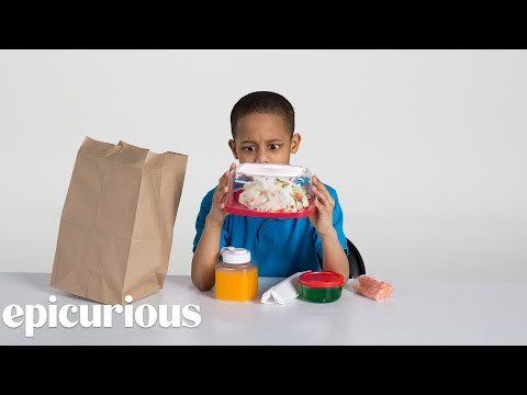 Kids Try 100 Years of Brown Bag Lunches from 1900 to 2000 Bon Appetit
