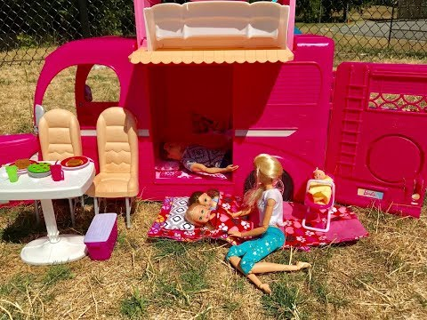 Xxx Mp4 Barbie CAMPER Barbie Family Goes CAMPING 3gp Sex