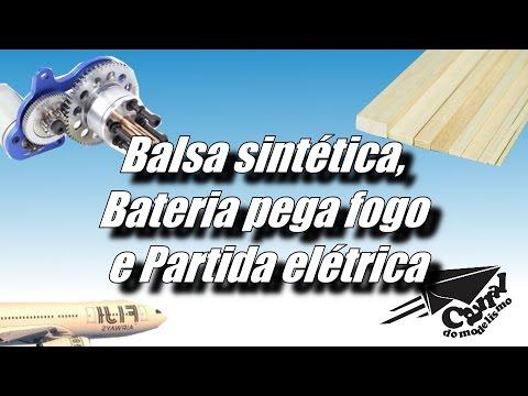 Balsa sintética Bateria pega fogo e Partida elétrica CANAL DO MODELISMO