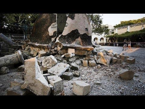 Kos: Luftaufnahmen der Zerstörung nach Erdbeben