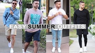 4 Easy Summer Outfits for Men 2017 | Men's Fashion & Style | Alex Costa
