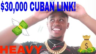 BUYING A FAKE DIAMOND CUBAN LINK CHAIN!!