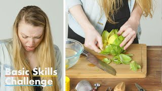 50 People Try to Remove Artichoke Hearts | Basic Skills Challenge | Epicurious