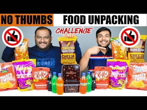 Xxx Mp4 NO THUMBS FOOD UNPACKING CHALLENGE Food Eating Challenge Eating Competition Food Challenge 3gp Sex