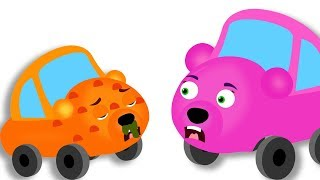 Gummy Bear Cars common cold Doctor Pig Car heals the baby finger family rhymes for kids