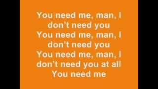 Ed Sheeran You Need Me I Dont Need You  Lyrics  Album Version