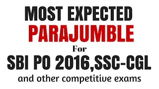 Best Tricks to Solve Para Jumble Easily | IBPS PO 2016 Pre and Mains | Part- 5 | in ENGLISH