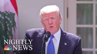 'Time Will Tell' If A.G. Sessions Keeps His Job, Pres. Donald Trump Says | NBC Nightly News