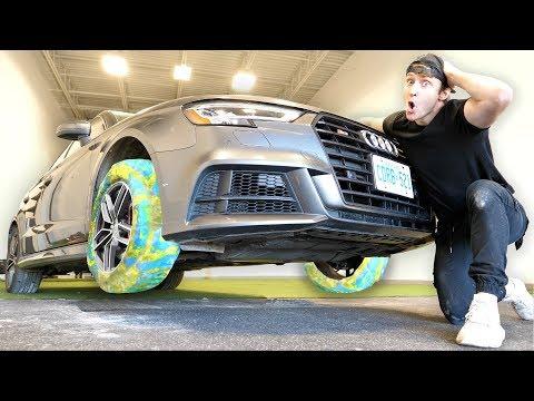 I Put Bouncy Ball Tires On My Car