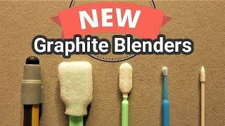 5 New Blending Tools For Blending Graphite Powder & Graphite pencils, Review & Test