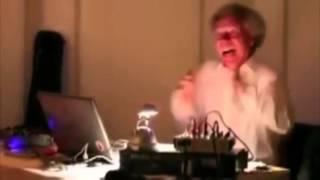 Old man DJ'ing