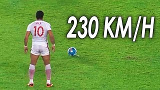 10 Disparos Más Potentes Del Fútbol ● Most Powerful Shots in Football