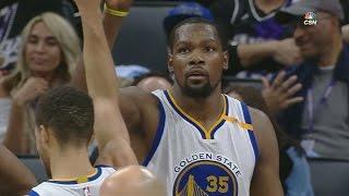 Kevin Durant Blocks DeMarcus Cousins! Boogie Raging! Warriors vs Kings