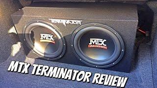 "MTX Terminator 2 12"" 1200 Watt  Subwoofer with Kicker 1200watt amp Review (Dodge Challenger)"