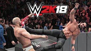 WWE 2K18 Gameplay   The Shield Reunites against Sheamus, Cesaro, & Braun Strowman (TLC Tag Match)