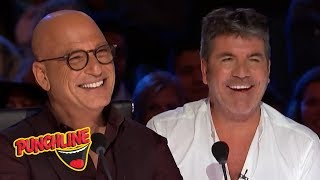 STAND UP COMEDIANS make Simon Cowell & Howie Mandel On America